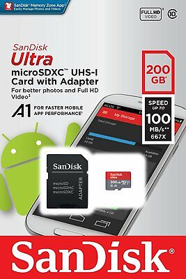 $29.49 • Buy Sandisk Micro SD Card With Adapter Ultra Memory Card 16GB 200GB WHOLESALE PRICE
