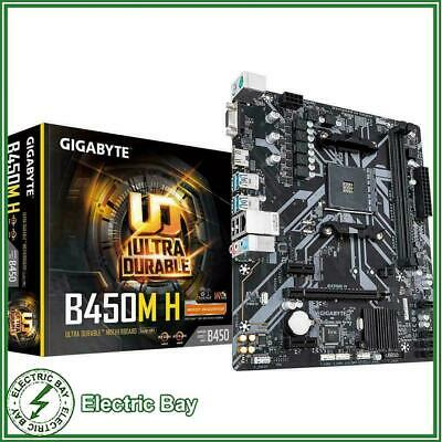 AU105 • Buy Gigabyte B450M H AMD Ryzen AM4 MATX Gaming Motherboard 2xDDR4 M.2 HDMI