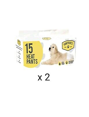 30 X Paw Prints Small Heat Pants Disposable Elasticated Female Dog Heat Nappies  • 6.99£