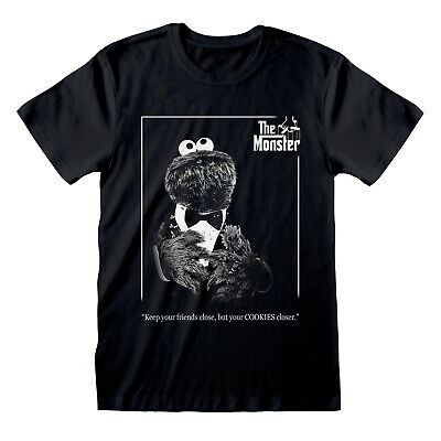 Sesame Street The Monster T Shirt Official Cookie Monster The Godfather NEW • 13.99£
