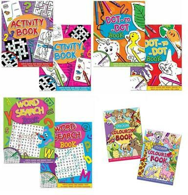 Kids Activity Book Childrens Dot To Dot Word Search Colouring Puzzle HQ Paper • 2.39£