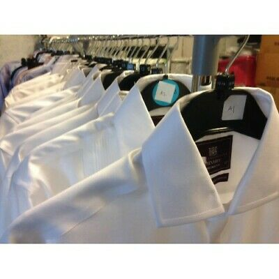 Ex M&S MENS FORMAL DOUBLE CUFF LONG SLEEVE SHIRTS SECONDS TUXEDO FRENCH CUFF • 12.99£