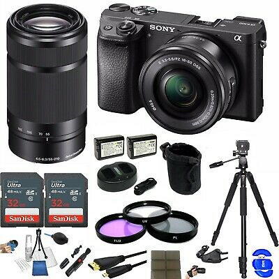 $ CDN1999.19 • Buy Sony A6300 Mirrorless Digital Camera W/ 16-50mm & 55-210mm Lens Bundle