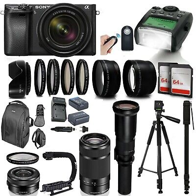 $ CDN2339.69 • Buy Sony A6300 Mirrorless Digital Camera W 16-50mm, 55-210mm & 500mm Supreme Bundle