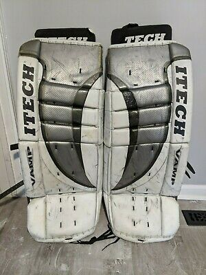 $169.99 • Buy Itech Vamp 7.8 Senior Sr 34  Hockey Goalie Leg Pads Black White Gray