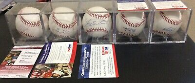 $ CDN39.70 • Buy (5) Autographed Baseballs With Authentication: Santana, Upton, Maybin, Miller,