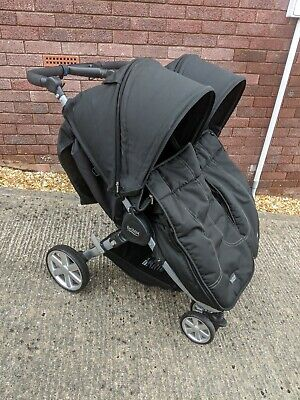 Britax B-Agile Double Pushchair With Cosy Toes And Rain Cover • 150£