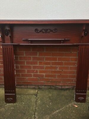 Wooden Fireplace Surround - Victorian Style - Heavy Ornate • 17.50£