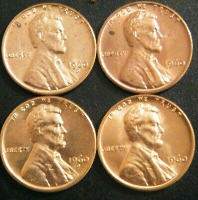 $6.49 • Buy 1960 PD Small & Large Date Lincoln Pennies Cents Coins Uncirculated Minor Issues