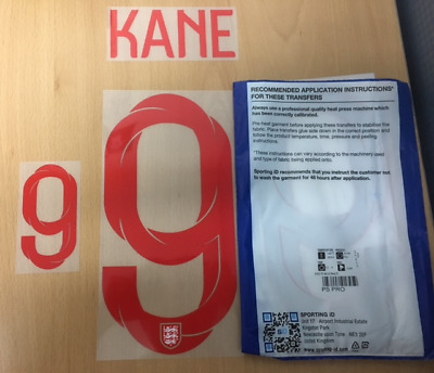 $22.50 • Buy Sporting ID Official Nike England Authentic Home Nameset Print KANE 9 2018/19
