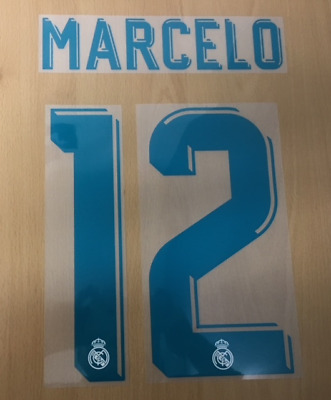 $22.50 • Buy Sporting Id Official Adidas Real Madrid Home Nameset Print MARCELO 12 2017/18