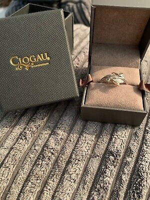 Clogau Awelon Silver & Rose Gold Ring Peridot Leaf Design Ring - Size O RRP £109 • 31£