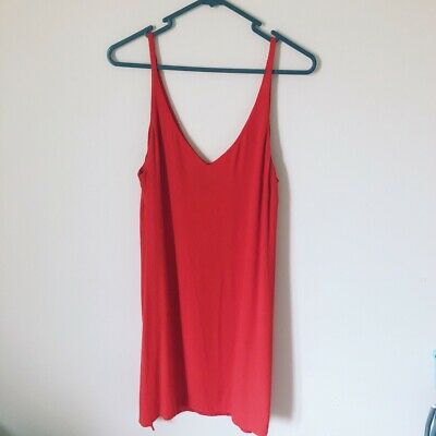 Topshop Red Cami Dress Size 12 Worn Once • 0.99£