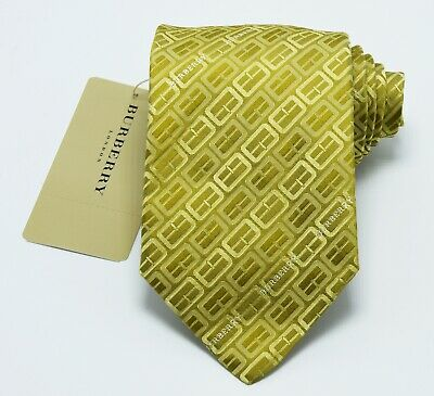 $89.95 • Buy NEW Burberry TROMBONE Mans 100% Silk Tie Authentic Italy Made 3.5  0350227