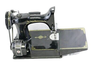 $450 • Buy Vtg Singer Featherweight 221-1 1950 Sewing Machine + Case + Pedal -Tested