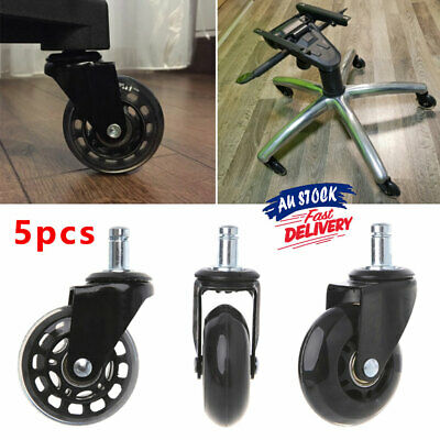 AU32.95 • Buy 5pcs Rollerblade Caster Chair Wheels Grip Replacement Rolling Ring Desk ACB#