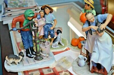 $ CDN98.65 • Buy Norman Rockwell Gorham Set Of 4 Porcelain Figurines Going On 16  Four Seasons