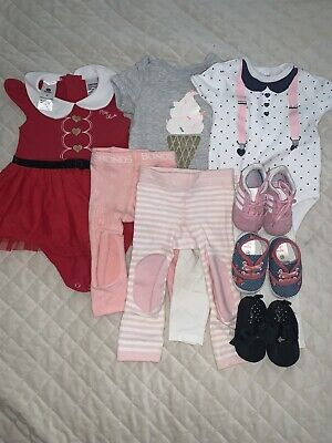 AU40 • Buy Baby Girls Clothes And Shoes Adidas, Bonds Size 00,0, Shoes0-3 Us3
