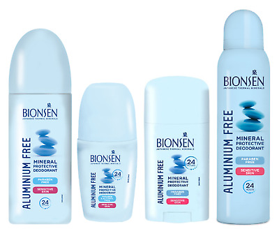 Bionsen Aluminium Free Deodorant Roll On,Pump, Stick Or Spray - Multibuy • 5.80£