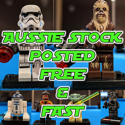 AU7 • Buy Fits Lego Star Wars Mini Figures , Darth Vader, Storm Troopers,R2 Yoda NEW STOCK