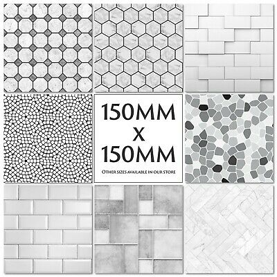 Grey Tile Stickers Decals Transfers Modern Pattern - Stone - Slate - Marble • 42.99£