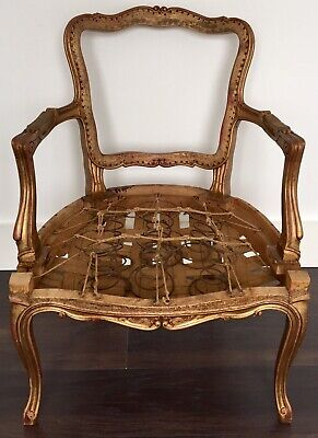 Vintage French Style Carver Chair Frame For Re-Upholstery • 50£
