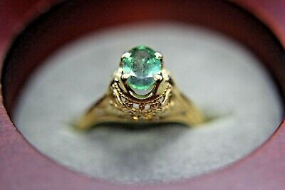 AU899 • Buy  Natural Alexandrite  0.7 CT14 KT Gold Ring Size 6.5