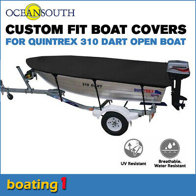 AU136.79 • Buy Oceansouth Trailerable Custom Boat Cover For Quintrex 310 Dart Open Boat
