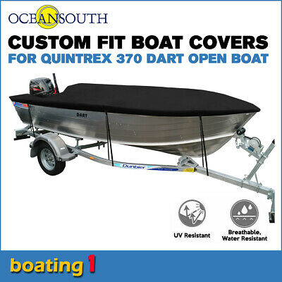 AU171.52 • Buy Oceansouth Trailerable Custom Boat Cover For Quintrex 370 Dart Open Boat