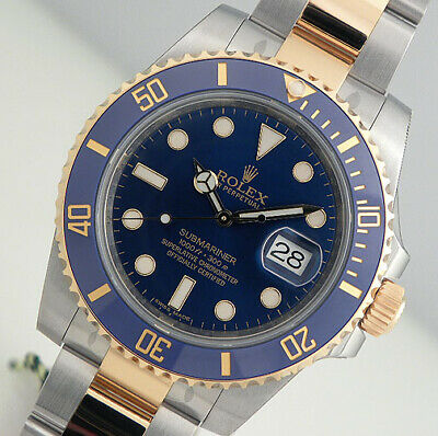 $ CDN19691.25 • Buy Rolex Submariner 116613 Steel & Yellow Gold Blue Ceramic Time Lapse Bezel 40mm