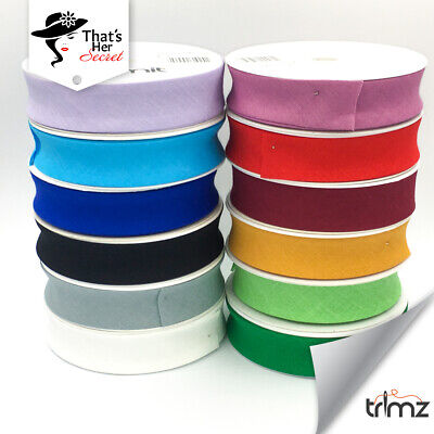 Trimz Best Quality Bias Binding Tape 25mm (1 ) Wide 5 Meters 100% Cotton  • 3.49£