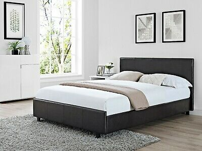 £109.95 • Buy Vogue Brown Faux Leather Classic Bed Frame - Low Foot End - 4ft Small Double