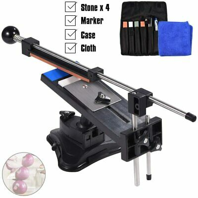 $37.99 • Buy Professional Fix-Angle Edge Knife Sharpening Sharpener System+4 Stones Kit