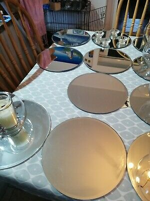 Wedding Centre Pieces 14 Mirrors, 7 Fishbowls And 50 Glass Tea Light Holders  • 90£