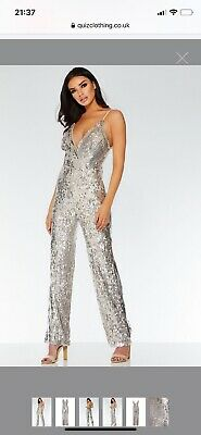 Quiz Nude And Silver Sequin Jumpsuit • 14£