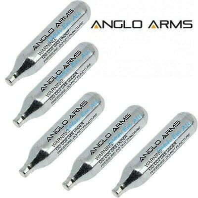 5 X CO2 Gas Cartridge Capsule Cylinder Air Rifle Pistol Anglo Arms 12g • 3.99£