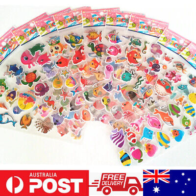AU1.99 • Buy 1x One Random No Repeat Sheet 3D PVC Puffy Stickers For Kids Scrapbook