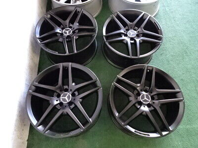 $1695 • Buy 2014 To 2018 Mercedes S400 S550 S600 Amg Oem Factory 19  Wheels Rims Satin Black
