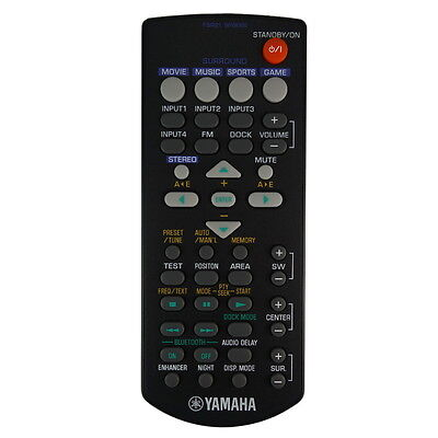 AU48.71 • Buy NEW Genuine Yamaha FSR21 WP08300 Soundbar Remote Control