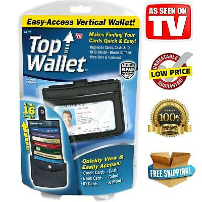 AU27.90 • Buy TOP WALLET As Seen On TV Easy-Access Vertical Design RFID Shield Holds 16 Cards
