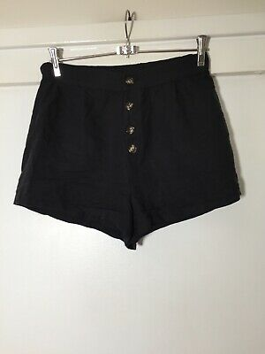 AU21.45 • Buy Pull And Bear Womens Black Shorts Size M W28 Inch Ramie/cotton Good Condition