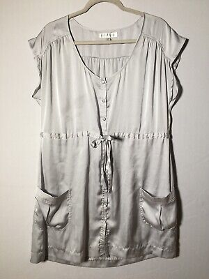 AU23.45 • Buy Forever New Womens Silver Shift Dress Size 10 Good Condition