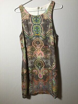 AU23 • Buy Forever New Womens Colourful Dress Size 10 Geometric Print Sleeveless Good Condt