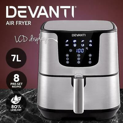 AU102 • Buy Devanti Air Fryer 7L LCD Fryers Oil Free Oven Airfryer Kitchen Healthy Cooker