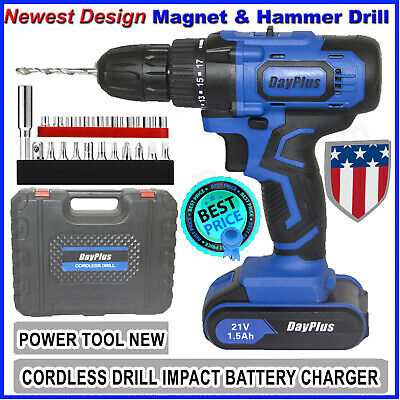 View Details 21V Cordless Drill Electric Screwdriver Mini Wireless Power Driver Hammer&Magnet • 49.98$