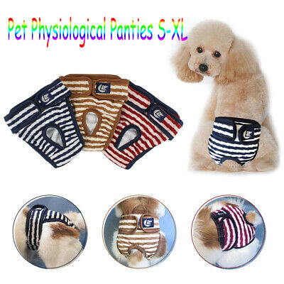 Female Pet Dog Puppy Physiological Pants Bitch In Season Menstrual Nappy Diaper • 1.99£
