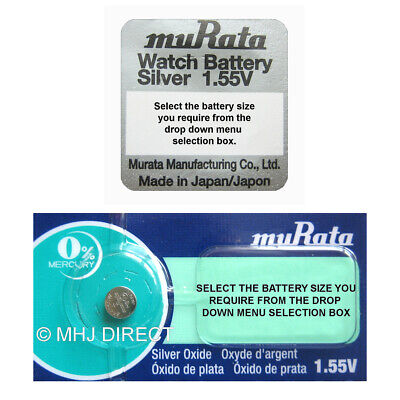 2 X Murata Silver Oxide Button Cell Watch Battery 0% Mercury [Select Size] • 1.79£