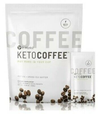 $40 • Buy It Works Keto Coffee *15 Single Packets* Carb Management NEW FULL SEALED  BAG