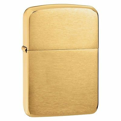 $17.25 • Buy Zippo 1941B,   1941 Replica  Lighter, Brushed Brass Finish, ***Flints/Wick***