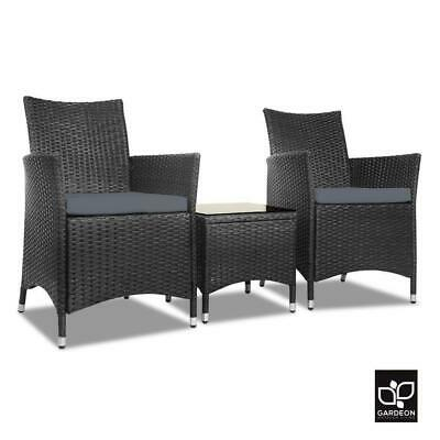 AU209.95 • Buy RETURNs Gardeon Patio Furniture 3 Piece Outdoor Setting Bistro Set Chair Table W